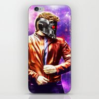 starlord iPhone & iPod Skins featuring Guardians of the Galaxy - Starlord by p1xer