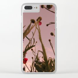Wildflower Sunsets #4 Clear iPhone Case