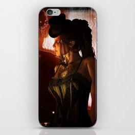 Wonderful steampunk lady iPhone Skin