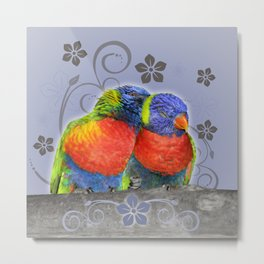Two birds in love Metal Print