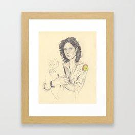 wip of Ripley with Jones Framed Art Print