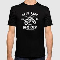 Deer Park Moto Crew Black LARGE Mens Fitted Tee