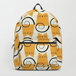 Figaro Cat Orange Pattern Backpack