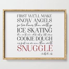 Buddy the Elf Quote Serving Tray