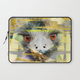 Abstract Art Collage Ostrich Laptop Sleeve