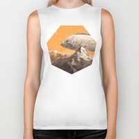 bass Biker Tanks featuring Mountain Bass by Sam Rowe Illustration