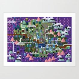 Florence Map Flat Art Print