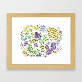 Jammin Blobs  Framed Art Print