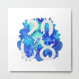 Blue Flower 2008 Metal Print