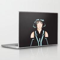 tron Laptop & iPad Skins featuring Tron: Quorra by William Vega