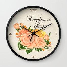Flower bouquet | Keeping it classy Wall Clock