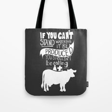 Would you EAT it if you had to KILL it? Tote Bag