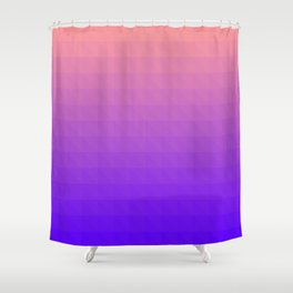 Pink and Purple Ombre - Flipped Shower Curtain