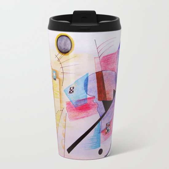 inspiration from Kandinsky Metal Travel Mug