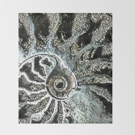 Pyrite after Ammonite Throw Blanket