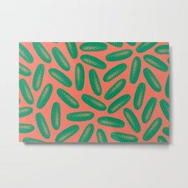cucumber pattern Metal Print