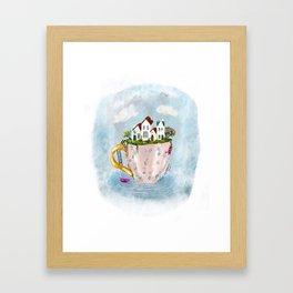 Pink Cup island Framed Art Print
