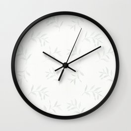 Airy Watercolor Vine By Journey Home Made Wall Clock