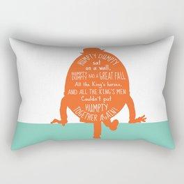 Humpty Dumpty - Nursery Rhyme Inspired Art Print Rectangular Pillow