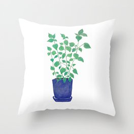 petite plante de maison Throw Pillow