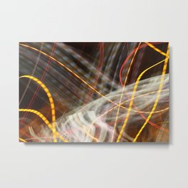 Flutter of Light Metal Print