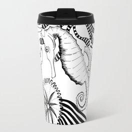 Coral reef black and white Travel Mug