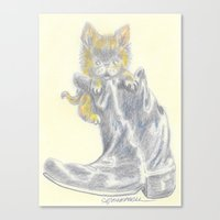 mew Canvas Prints featuring Mew by Connie Campbell