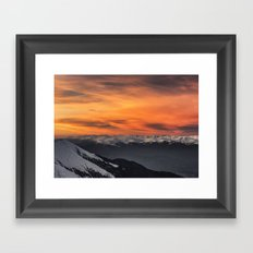 Peaks III Framed Art Print