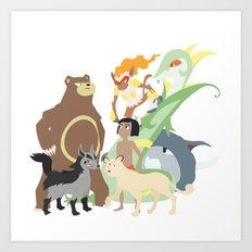 Team Mowgli Art Print