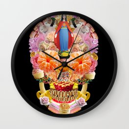 Skull Collage Wall Clock