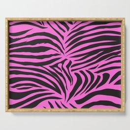 Pink Zebra Jungle Pattern Serving Tray