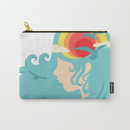 California Dreaming Blue Carry-All Pouch
