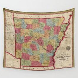 Map of Arkansas (1852) Wall Tapestry