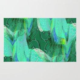 Seafoam Green Abstract 2 Rug