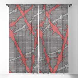 Barbed Sheer Curtain
