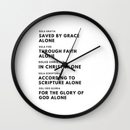 The Five Solas Wall Clock