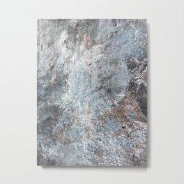 Burned Copper C Metal Print