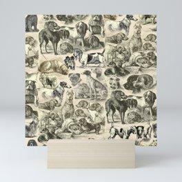 KENNEL - OVER 20 DOG BREEDS COLLAGE Mini Art Print