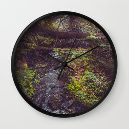 Stream at Little Pond Wall Clock