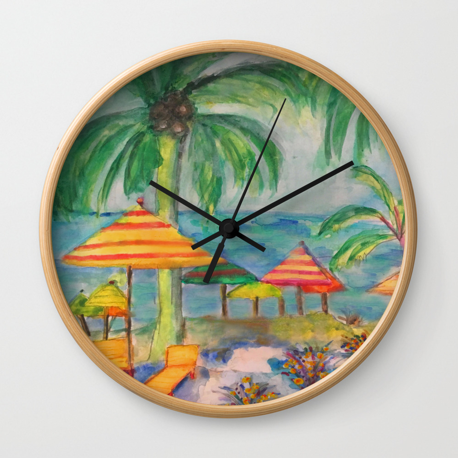 Cozumel A Day At The Beach Wall Clock By Bellefleurist Society6