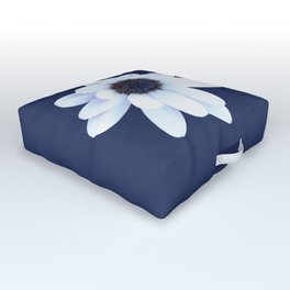 Sleepy African Daisy Flower Outdoor Floor Cushion