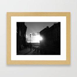 Shinning Framed Art Print