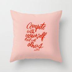 Compete Throw Pillow