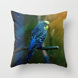 Budgie Throw Pillow