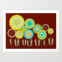 Lovely garden Art Print