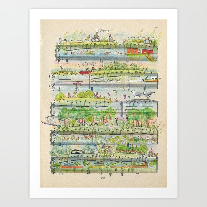 my village Art Print