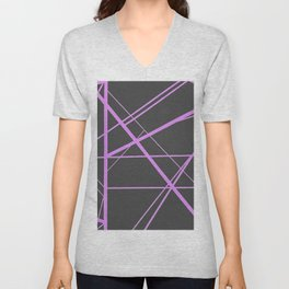 Crossroads - Brown and Pink Unisex V-Neck