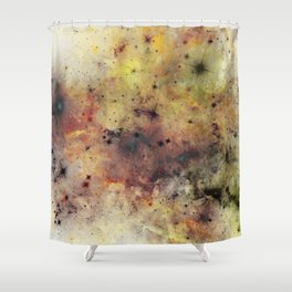Into The Unknown - Abstract, rustic space style painting Shower Curtain