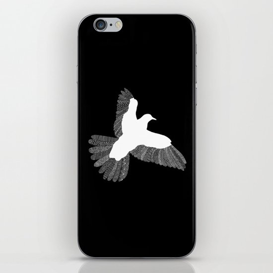 Bird (On Black) iPhone & iPod Skin
