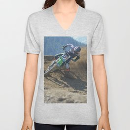 Dishing the Dirt - Motocross Champion Race Unisex V-Neck
